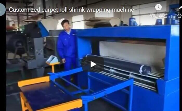 Customized carpet roll shrink wrap machine
