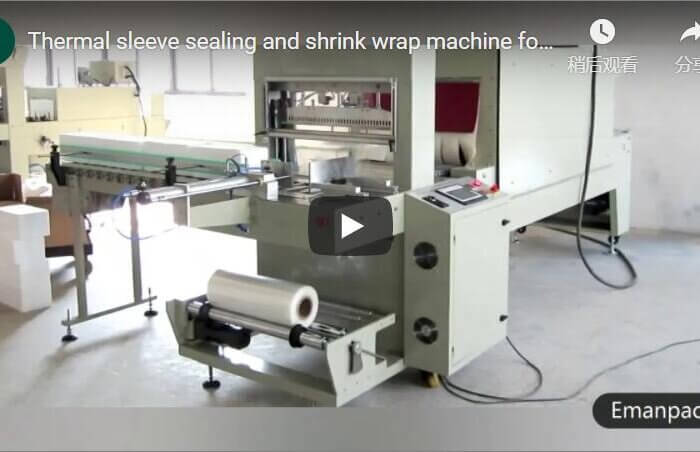 Thermal sealing shrink wrap machine for packing grocery