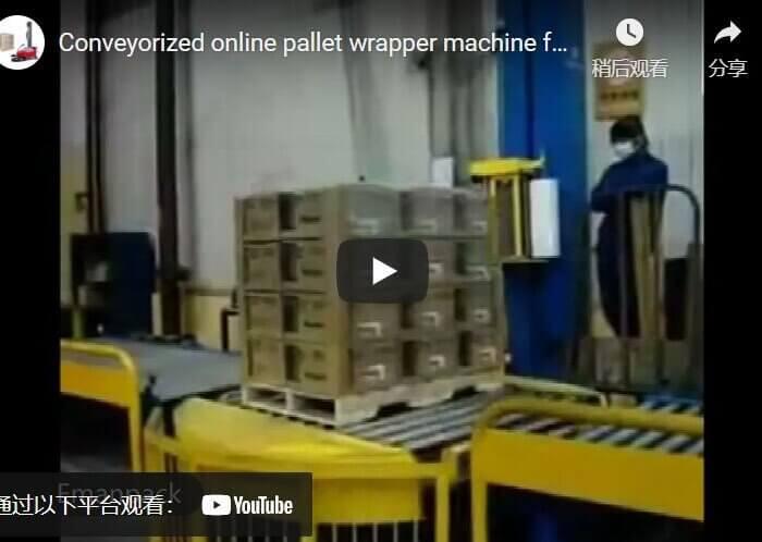 conveyorized pallet wrapper machine