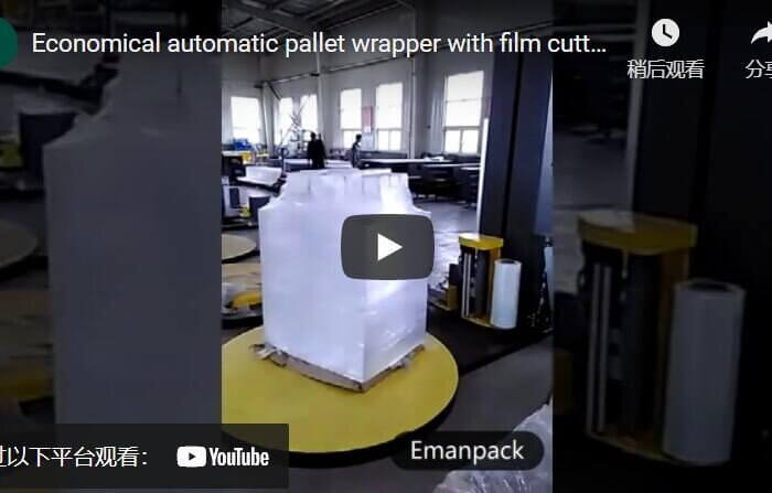 economic pallet packer with film cutter