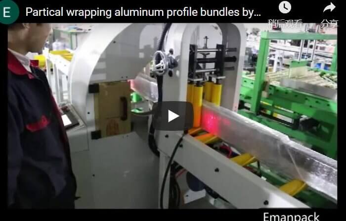 partial wrapping by orbital wrapper machine