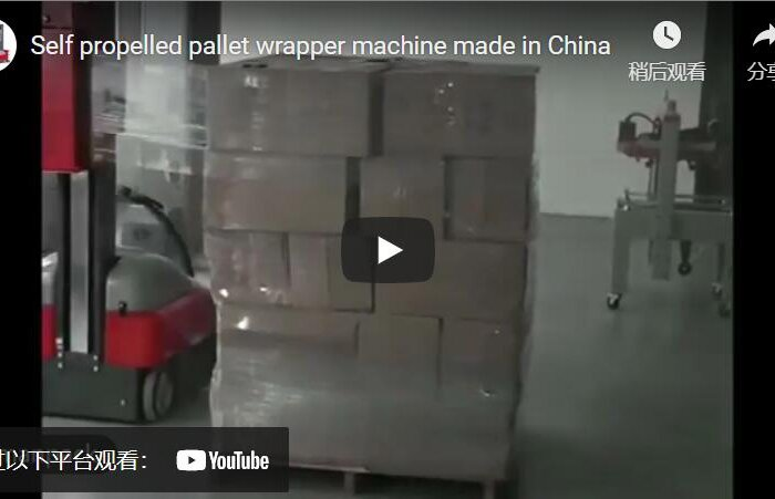 robot pallet packer for wrapping big skid and pallets