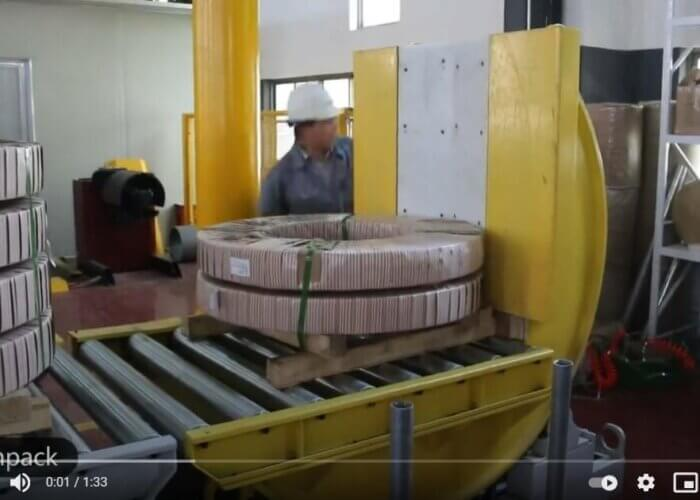 inline coil upender machine tilt slit coils