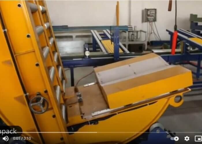 online coil downender for steel coils and reels
