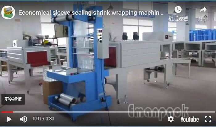 Economical sleeve sealing shrink wrapping machine packaging bottle water